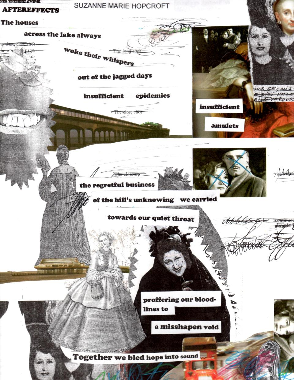 SUZANNE MARIE HOPCROFT'S 'AFTEREFFECTS' STARS IN JOSEPH MULHOLLAND'S COLLAGE EXTRAVAGANZA